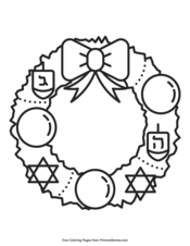 Hanukkah Coloring Pages Free Printable Pdf From Primarygames
