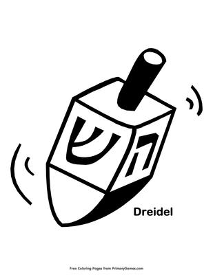 Dreidel Coloring Page Printable Hanukkah Coloring Ebook Primarygames