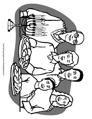 Hanukkah Family Coloring Page Printable Hanukkah Coloring Ebook