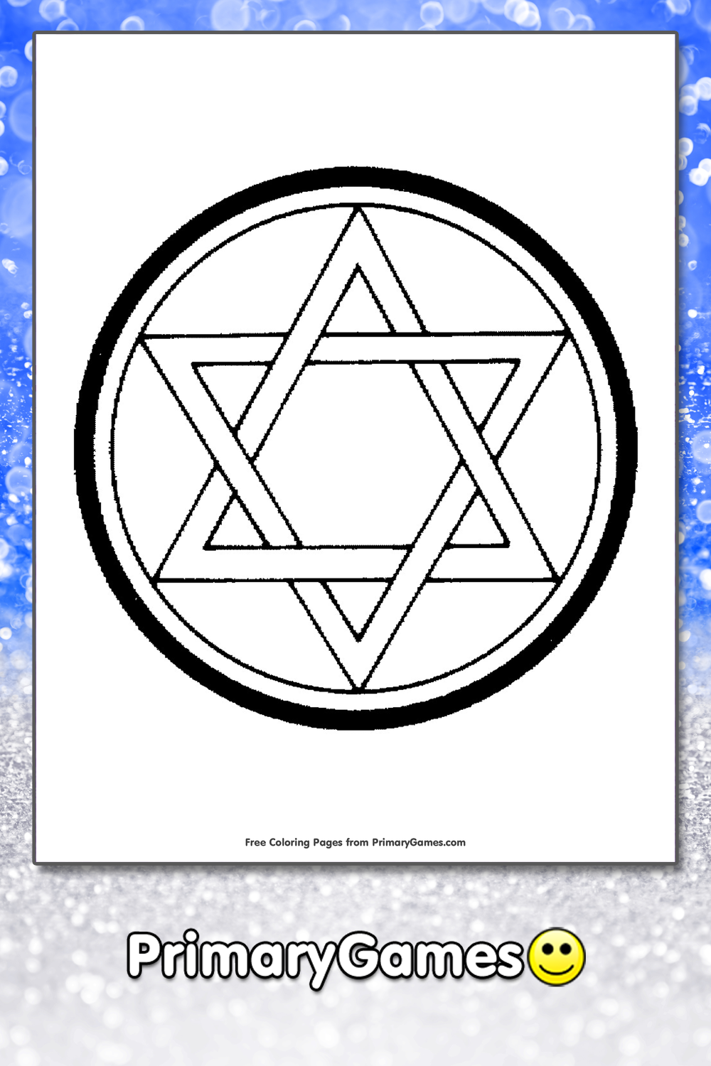 Hanukkah Coloring Pages | Printable Coloring eBook - PrimaryGames
