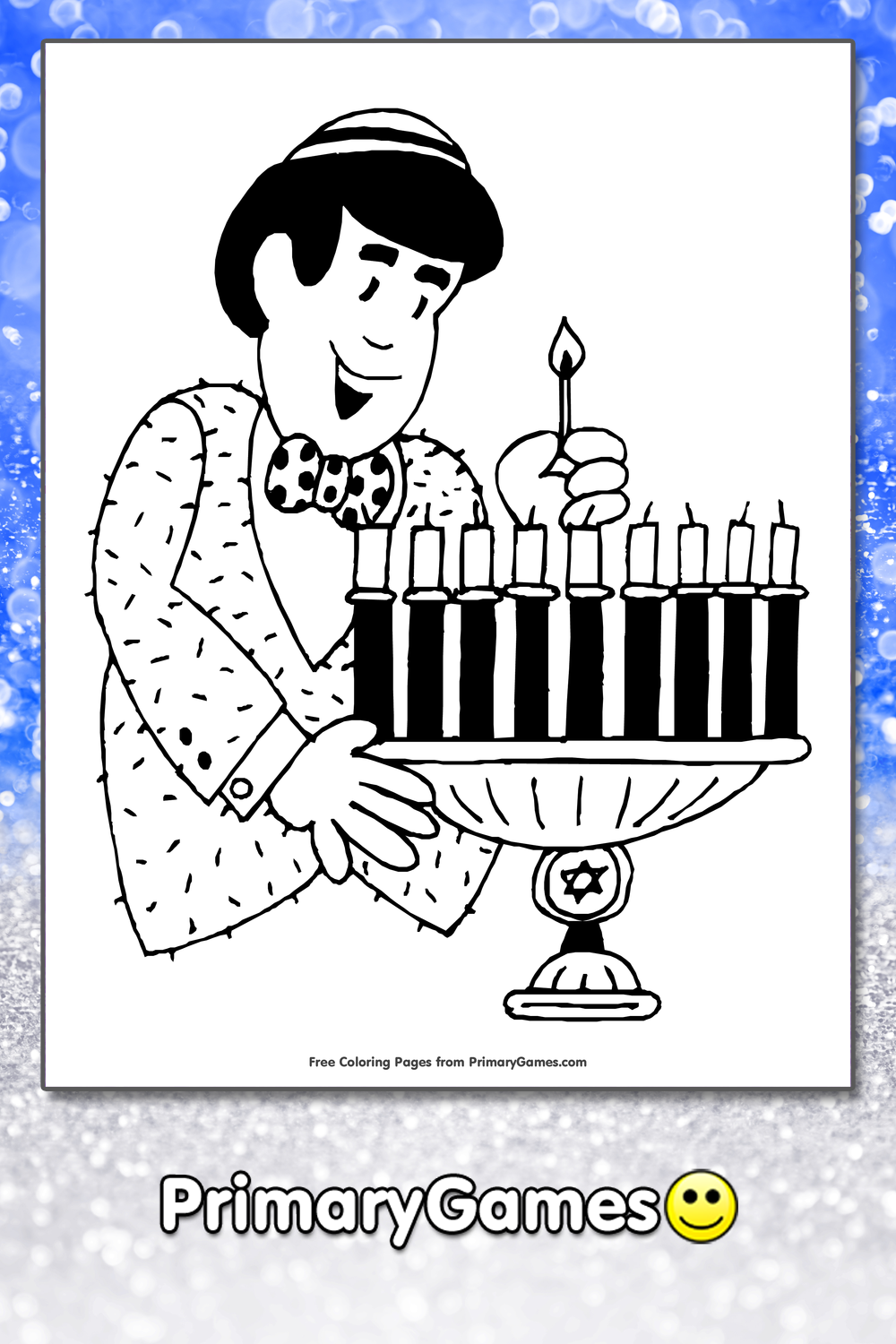 Hanukkah Coloring Pages PrimaryGames Play Free Online Games