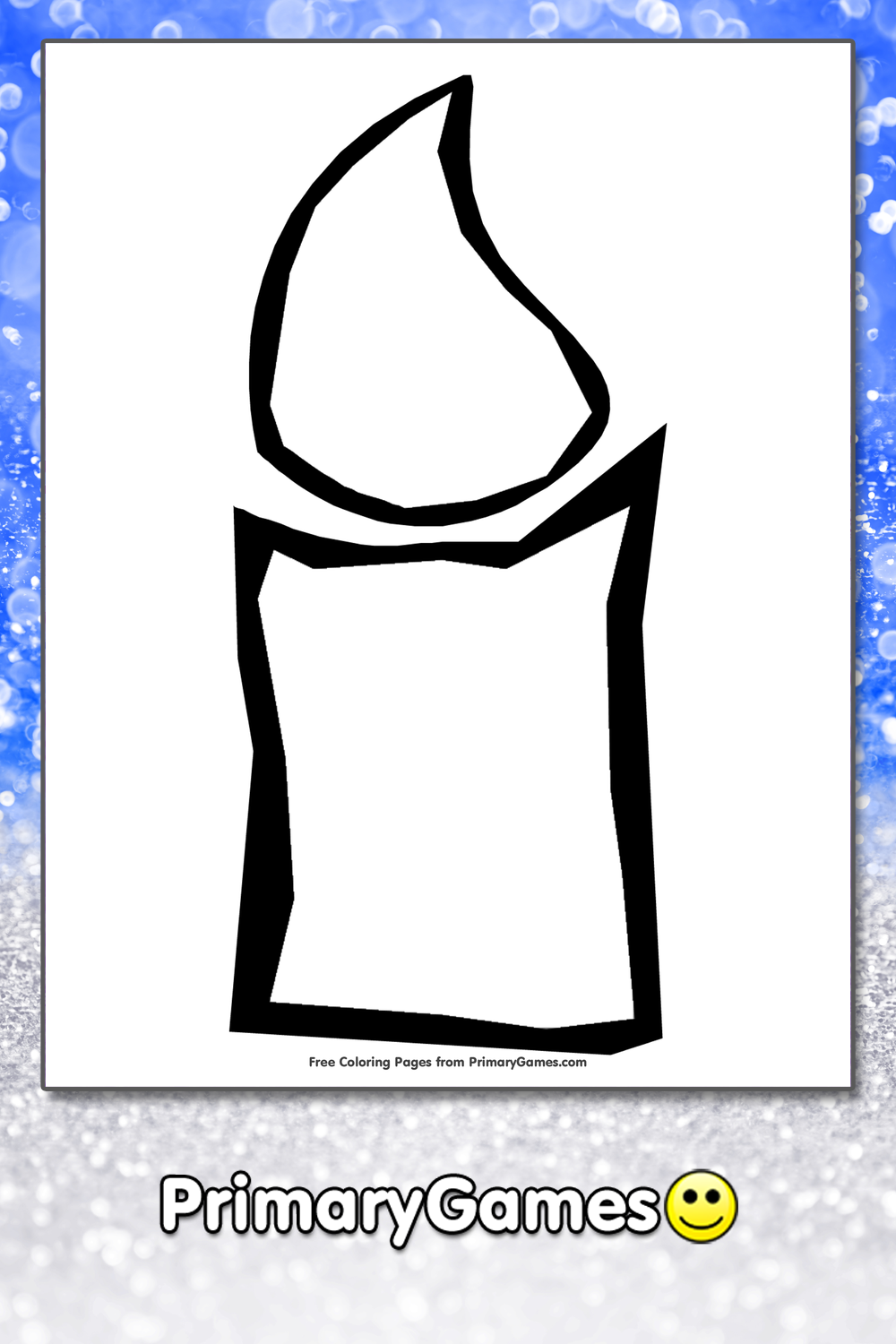 Candle Coloring Page Printable