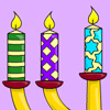 Hanukkah Lights Coloring