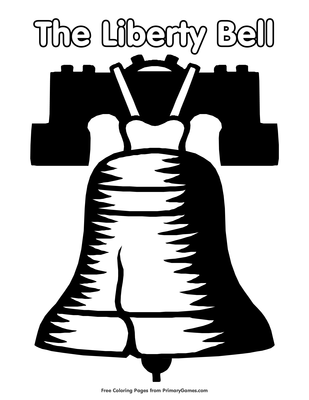 The Liberty Bell Coloring Page Printable Independence Day Coloring