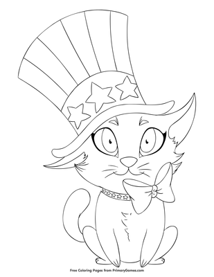 Cat In The Hat Coloring Pages Free Printable - Coloring Home | 400x309