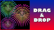 Fireworks Drag & Drop Puzzle