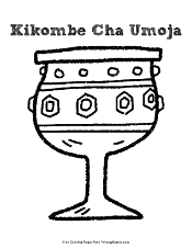 Kikombe Cha Umoja Coloring Page | Printable Kwanzaa Coloring eBook ...