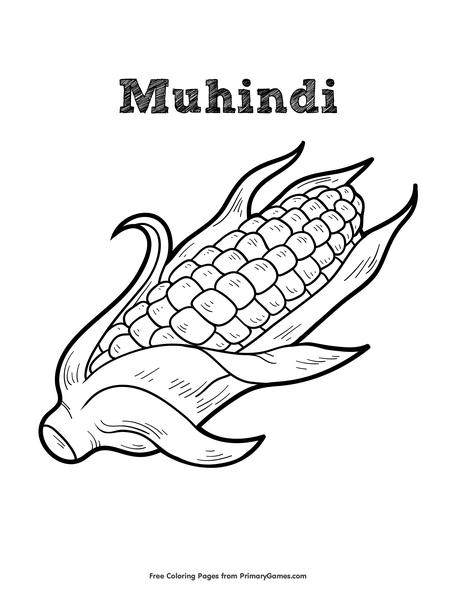 Muhindi Coloring Page Printable Kwanzaa Coloring Ebook Primarygames