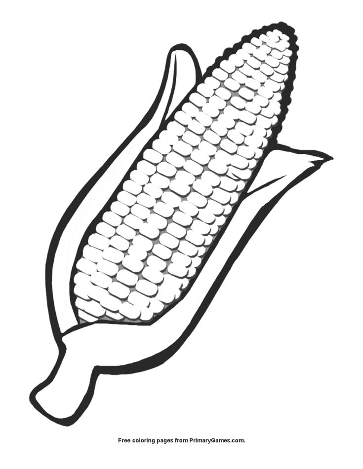 Ear Of Corn Coloring Page Printable Kwanzaa Coloring Ebook