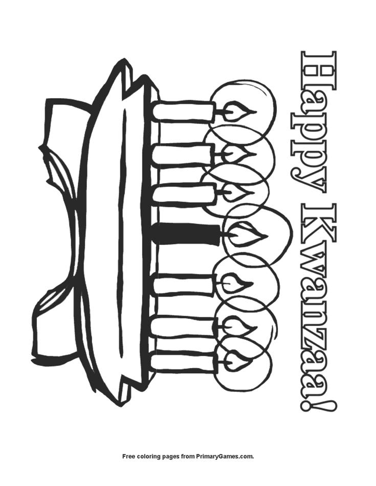 Happy Kwanzaa Coloring Page | Printable Kwanzaa Coloring ...