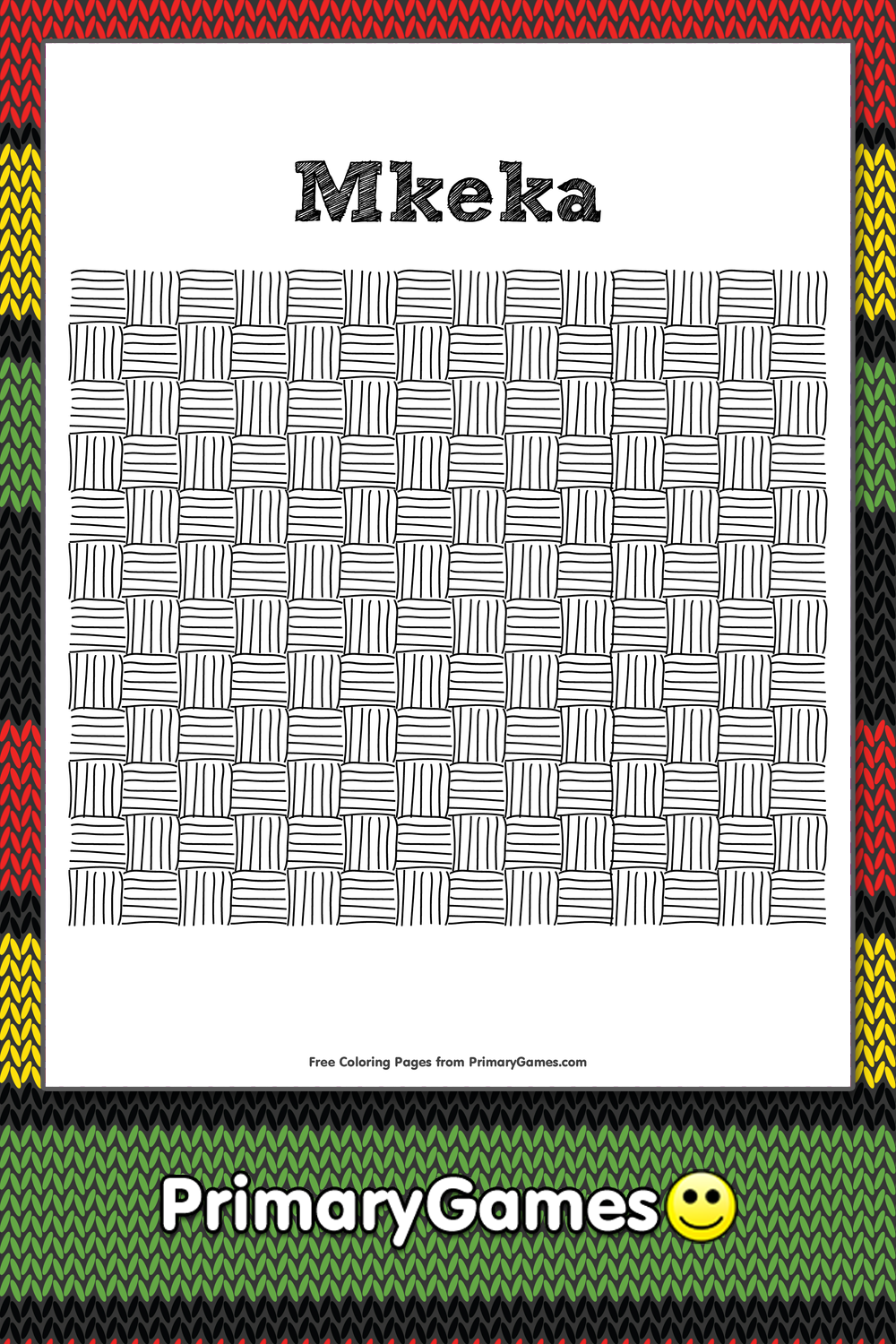 Mkeka Coloring Page Printable Kwanzaa Coloring Ebook