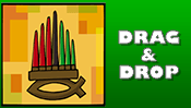 Kwanzaa Drag & Drop Puzzle