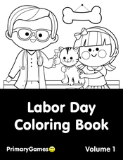 Labor Day Coloring eBook: Volume 1