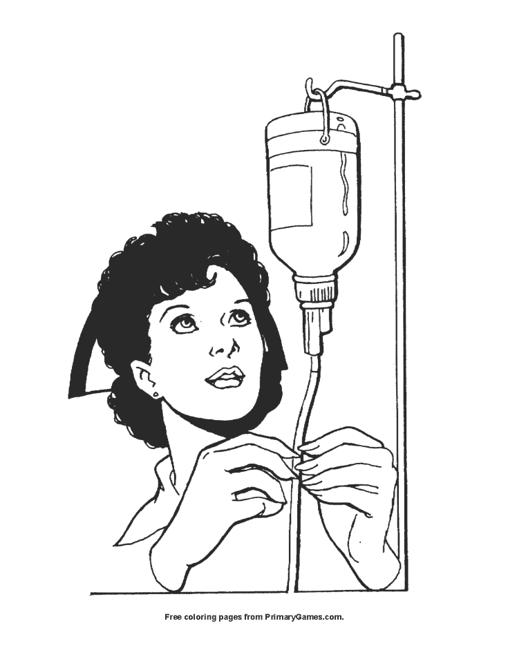 Nurse Coloring Page Free Printable Pdf From Primarygames