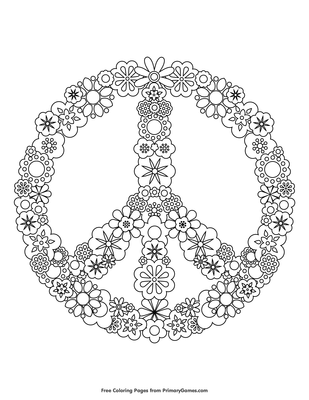 Simple and Attractive Free Printable Peace Sign Coloring Pages | Coloring  pages, Adult coloring pages, Coloring book pages | 400x309