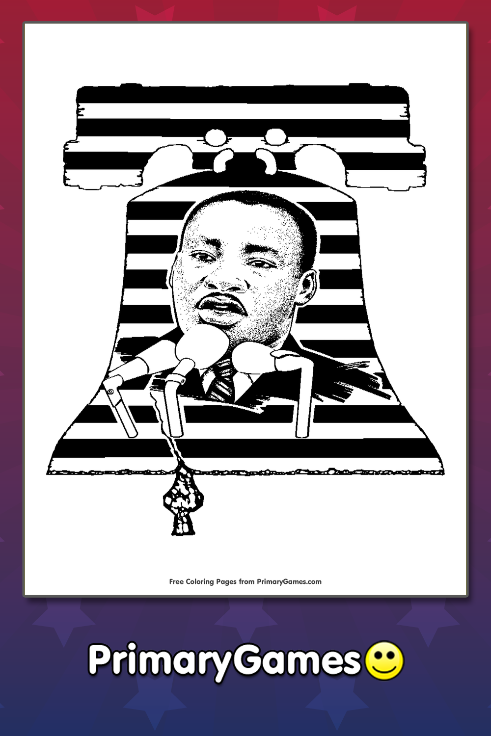 MLK Freedom Coloring Page Printable