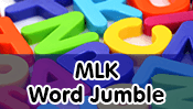 Martin Luther King Word Jumble