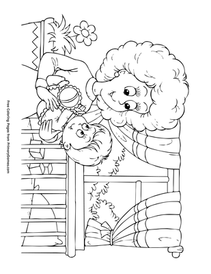 Free Printable Baby Coloring Pages For Kids | 400x309