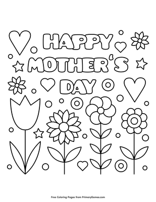 photograph regarding Free Printable Mother's Day Games for Adults identified as Content Moms Working day Coloring Web page Printable Moms Working day