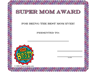 Super Mom Certificate