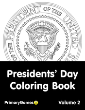 Presidents' Day Coloring eBook: Volume 2