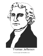 Thomas Jefferson Coloring Page Printable Presidents Day Coloring