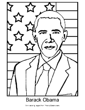 Barack Obama Coloring Page | Printable President\'s Day Coloring ...