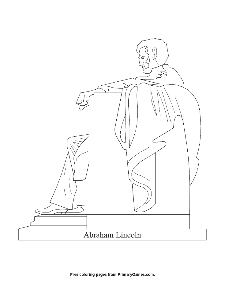 Abraham Lincoln Memorial Coloring Page • FREE Printable PDF ...