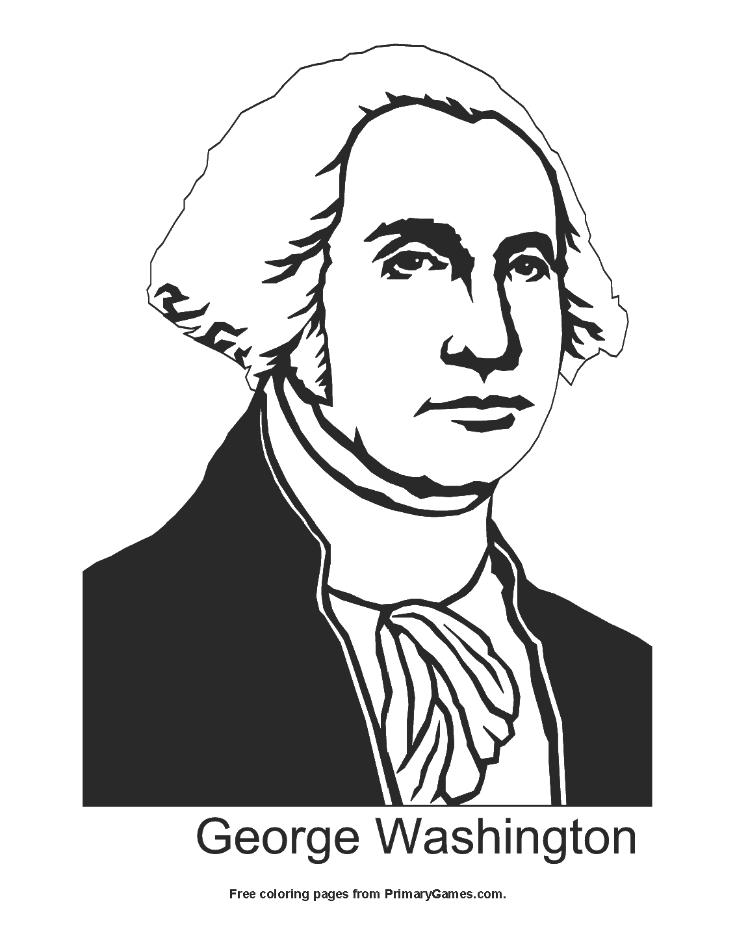 George Washington Coloring Page | Printable President's ...