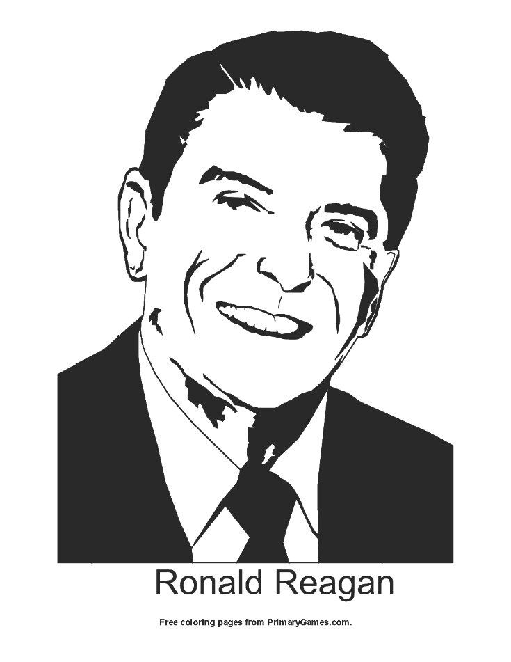 Ronald Reagan Coloring Page Printable