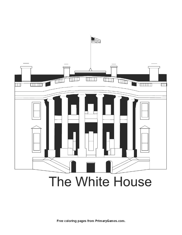 The White House Coloring Page
