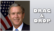 President George W. Bush Drag & Drop Puzzle