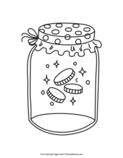 Gold Coins in a Jar