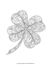 Zentangle Four-Leaf Clover