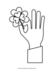 Hand Holding a Shamrock