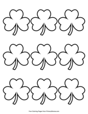 Simple Shamrock Outline 9