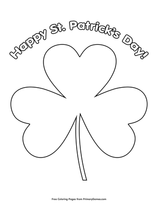 St. Patrick's Day Coloring Pages - itsybitsyfun.com | 400x309