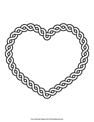 Celtic Heart Coloring Page Free Printable Coloring Books