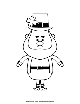 Leprechaun Coloring Page • FREE Printable PDF from PrimaryGames