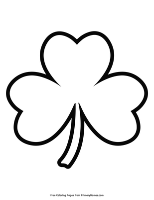 graphic about Printable Shamrock identify Uncomplicated Shamrock Define Coloring Site Printable St