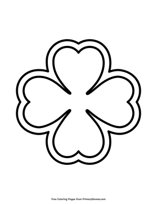 image regarding 4 Leaf Clover Printable named 4 Leaf Clover Coloring Site Printable St. Patricks Working day