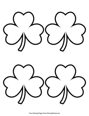 image relating to Shamrock Outline Printable named Straightforward Shamrock Determine 4 Coloring Web page Printable St
