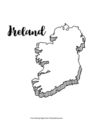 Ireland Coloring Page Printable St Patrick S Day Coloring Ebook