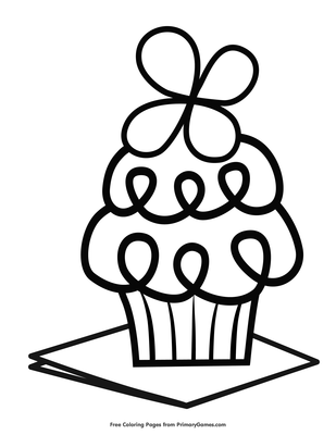 Printable Cupcake Coloring Pages | ColoringMe.com | 400x309
