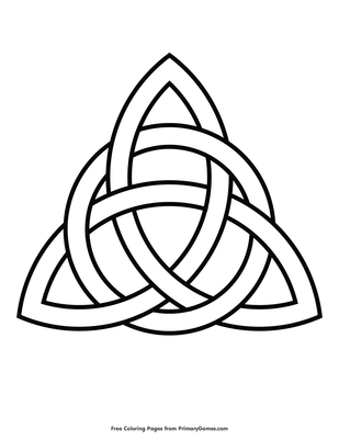 Celtic Trinity Knot Coloring Page Free Printable Coloring