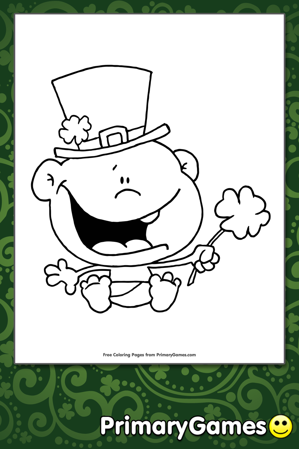Lucky Baby Coloring Page Printable