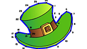 St. Patrick's Day Dot to Dot Puzzle