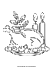 Thanksgiving Coloring Pages   Printable Coloring eBook - PrimaryGames