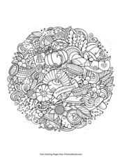 Thanksgiving Coloring Pages Free Printable Pdf From Primarygames