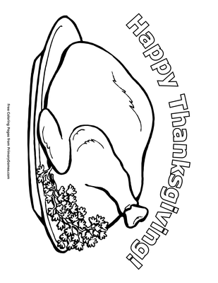 Happy Thanksgiving Coloring Page | Printable Thanksgiving Coloring ...